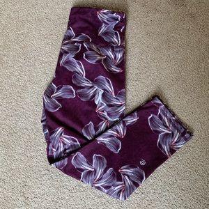 Flowered Cropped Legging